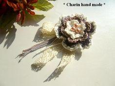 他の写真2: * Charin Hand made *お花とレースのコサージュ/ブルー系