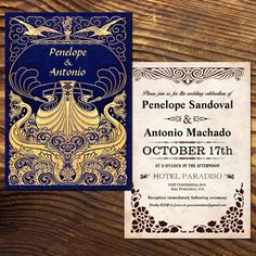 #Vintage_Wedding_Invitations | Nautical Theme, old fashioned antique rustic style. Easy to customize. $2.00 per invitation