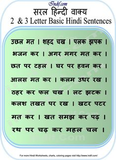 Learn to Read Hindi for Kids.Learn to read 2 & 3 Letter Hindi Word Sentences. Basic Hindi words and word formation without Matras made very easy for kids and beginners. Worksheets For Class 1, Hindi Worksheets, English Worksheets For Kids, Reading Worksheets, Kindergarten Worksheets, Addition Worksheets, Math Addition, Hindi Alphabet, Alphabet Words