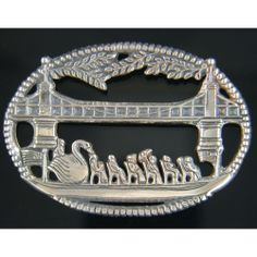 Swanboat Vista Pin Sterling Silver