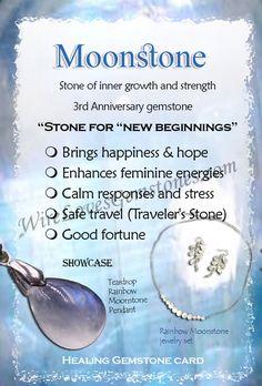 Moonstones healing properties