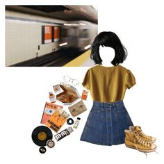 """""""Train of Thought"""" by black-and-white-hipster ❤ liked on Polyvore featuring Schumacher, OUTRAGE, Sissa, Madewell, Burberry, Linda Farrow, Børn, Converse, Polaroid and E.vil"""