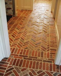 Brick tile floors to die for http://www.VintageBricks.com