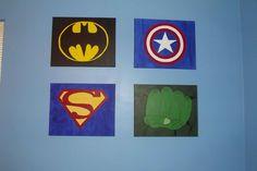 Baby Boy's superhero room