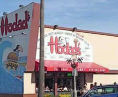 Hodads - greasy burgers, shakes & onion rings 5010 Newport Ave, Oceanview, CA.  The best bacon cheeseburger ever!  Try the shakes made with real ice cream, milk, malted and a serious mixer.  Served in a metal shake cup with a huge scoop of ice cream hanging off the side!