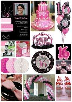 16th Birthday Party Ideas For Girls | Inspiration Board: Pretty in Pink Sweet 16 | Tinyprints Blog