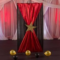 8 ft. 4 in. Lights Camera Party! Fabric Background