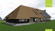 Moderne landelijke langgevelboerderij te Reusel Dutch House, Fancy Houses, Future House, Building A House, Shed, Villa, Outdoor Structures, Construction, Cabin