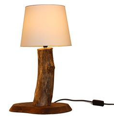 Treibholz Leuchte Tischlampe BALTIC GRAIN - Unikat Made in Germany, Massives Holz von der Ostsee in Handarbeit – LED – Tischleuchte