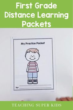 Keep your first grade students learning with this set of practice pages. It includes 80 pages of Math, Writing, ELA and Reading. Enough for a full month of distance learning due to school closures. Teaching Grammar, Help Teaching, Teaching Kindergarten, Student Learning, Teaching Ideas, Preschool Ideas, First Grade, Grade 1, Reading Centers