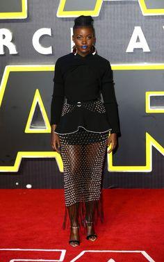 Lupita Nyong'o Strappy Sandals