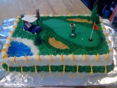 Golf Theme Retirement Cake