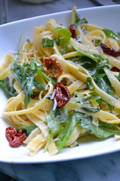 Slow Roasted Tomato and Arugula Pasta - Sarcastic Cooking