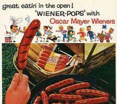 """OSCAR MAYER WIENERS """"WIENER-POPS"""" 1960'TS AD.."""