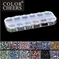 Kaifina 2500PCS 2MM Round 12-in-1 Acrylic Rhinestone Nail Art Decoration -- Find out more about the great product at the image link.