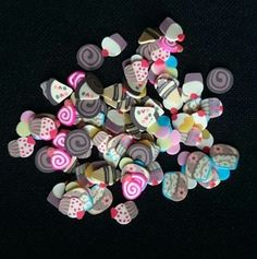 Charlies Nail Art - Cakes and sweets nail art fimo (100pcs), £0.99 (http://www.charliesnailart.co.uk/cakes-and-sweets-nail-art-fimo-100pcs/)
