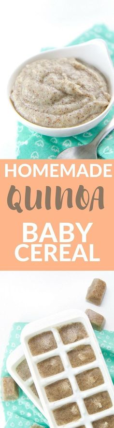 This smooth and creamy Homemade Quinoa Baby Cereal has an earthy and robust taste and is loaded with of protein, fiber, iron and magnesium. It's great served as a meal itself or mixed with baby's favorites puree.