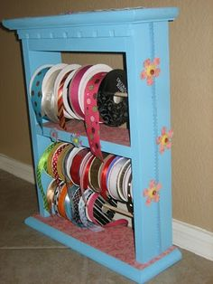 was that a drawer or a shelf?.. add dowel rods.. paint & mod podge...great idea