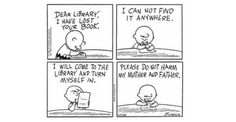 Charlie Brown from Peanuts by Charles Schulz - 19 Situations That Will Make Library-Lovers Smile