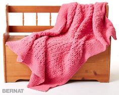 Bernat Daydream Knit Blanket, Knit Pattern | Yarnspirations
