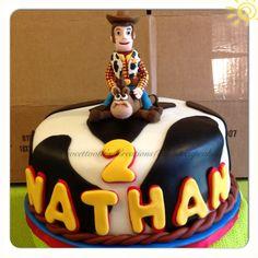 Chocolate cake( Toy story theme cake)
