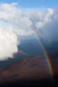 (not the actual one, but we did get to see a rainbow over the crater when we were there!) Rainbow in Haleakala Crater, Haleakala National Park, Maui, Hawaii