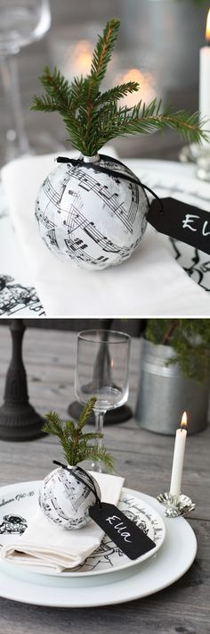 Christmas Inspiration for Place Settings