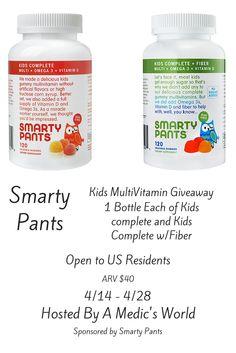 SmartyPants Kids Vitamins Giveaway – Ends 4/28