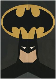 Batman Minimalist Retro Poster Movie Poster Art by CultPoster
