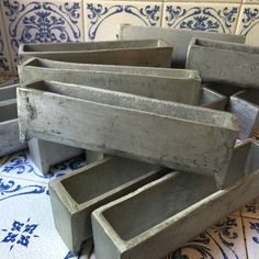 French Vintage Mini Terrine Moulds by FrenchVintageRetro on Etsy https://www.etsy.com/listing/233743192/french-vintage-mini-terrine-moulds