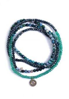 Sydney Evan Diamond & Sapphire Evil Eye Wrap Bracelet