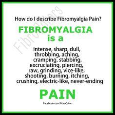 Fibromyalgia is a Pain