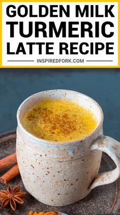 Tumeric Milk Recipe, Turmeric Recipes, Milk With Turmeric, Turmeric Coffee Recipe, Tumeric Coffee, Spirulina Recipes, Curcuma Latte, Turmeric Drink, Turmeric Smoothie