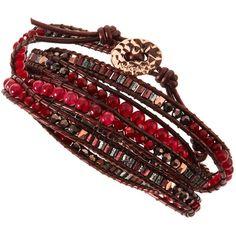 Beaded Wrap Bracelet (€46) ❤ liked on Polyvore featuring jewelry, bracelets, accessories, adjustable bangle, nakamol, nakamol jewelry, beaded bangles and wrap bracelet