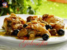 Pollo con olive e pinoli, un secondo molto saporito ed economico!