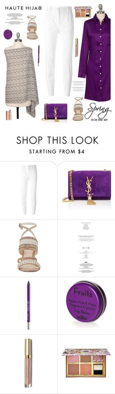 """""""Haute Hijab 10/2"""" by sabinakopic ❤ liked on Polyvore featuring Dolce&Gabbana, Yves Saint Laurent, Nine West, Urban Decay, Benefit, Charlotte Tilbury and modern"""