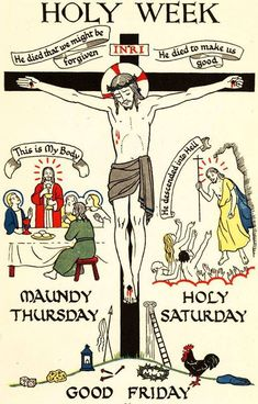 29 March 2018 – Maundy/Holy Thursday – The First Day of the Paschal Triduum  The History of Holy Thursday Holy Thursday is more than just the lead-in to the events of Good Friday; it is, in fact, the oldest of the celebrations of Holy Week. And with good reason—Holy Thursday is the day on which Catholics commemorate the institution of three pillars of the