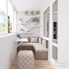 "10.4k Likes, 30 Comments - Дизайн Интерьера (@dizain.interier) on Instagram: ""Дизайн балкона"""