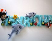 Dolphins and diver name banner
