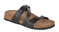 13af944ddc3e Birkis Salina Birko-flor Black Mini Points Birkenstock Sandals