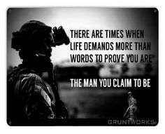 The Man You Claim To Be Metal Wall Sign - Gruntworks11b