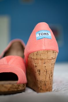 Whether walking down the aisle on a plantation or the cobblestones of Charleston, wedges are essential!