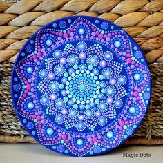 Magnet Mandala on Canvas Fridge Magnet Acrylic painting Mandala Dots Painting Sacred Geometry Dotting Spiritual art inches Mandalas Painting, Mandalas Drawing, Design Lotus, Tattoo Dotwork, Painted Rocks, Hand Painted, Mandala Jewelry, Mandala Canvas, Mandala Artwork