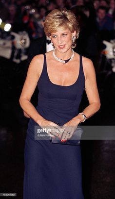 Diana, The Princess Of Wales Attends The 'Haunted' Premiere In London. .
