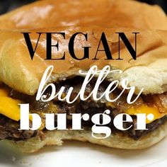 This vegan butter burger is absolutely delicious. It can be made as greasy, gooey, cheesy comfort food … there's also a healthier option without butter or oil and it's still delicious. Both versions are simple to make using commonly available ingredients. 🍔😋🌱🍔🌱😋🍔
