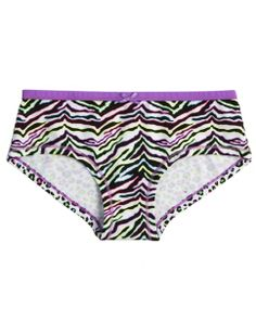Zebra Cheetah Brief Panty