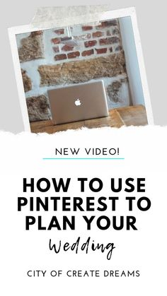 HOW TO USE PINTEREST TO PLAN YOUR WEDDING // By the end of this video, you are going to know exactly how to utilize your Pinterest account in the best way for wedding planning, the best ways to find what you are looking for when searching for pins, how to organize it so you can get quick access to what you need in vendor meetings and also how to create a Pinterest board. Watch this video to find out! Wedding Planning On A Budget, Plan Your Wedding, Pinterest Account, Pinterest Board, Youtube Wedding, Organization Hacks, Organizing Tips, Wedding Videos, Being Used