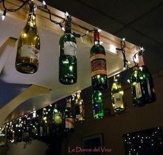 wine bottle crafts   DIY wine bottle crafts / Fun outside wine bottle Christmas decorations …   best stuff