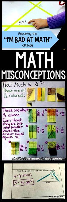 Some friends and I decided to write about the Math misconceptions we have seen in our classrooms. These are the ones we have seen a lot. What misconceptions have you seen?