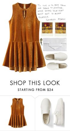"""""""Untitled #1353"""" by chantellehofland ❤ liked on Polyvore featuring Gap, Polaroid and Pieces"""